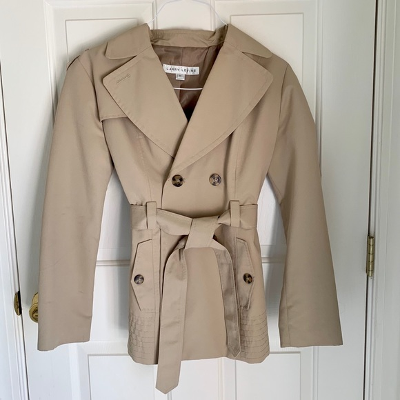 cost charm new appearance professional Larry Levine Trench Coat